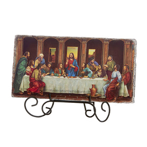 "Last Supper Adams 10.5"" W Tile Plaque"