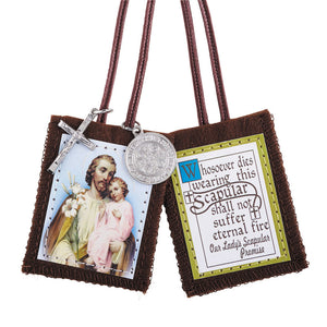 St. Joseph Scapular with Medals