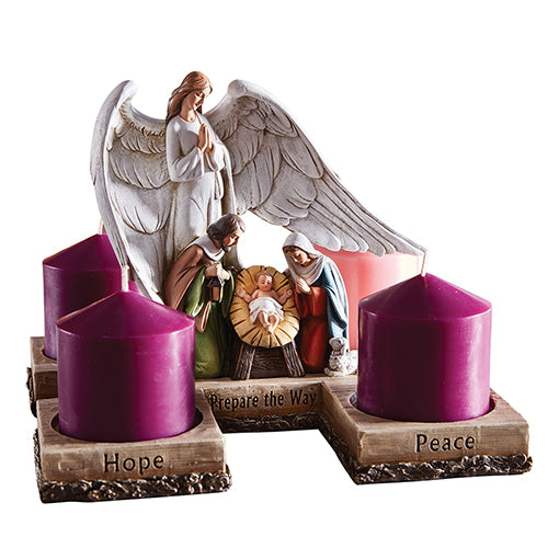 Angel Nativity Advent Candleholder