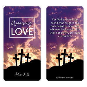 Amazing Love Hand-Held Prayer Cross with Card