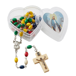 FREE Mission Rosary with Heart Shaped Case