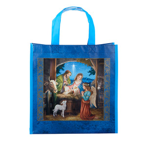 Peace on Earth Nativity Tote Bag