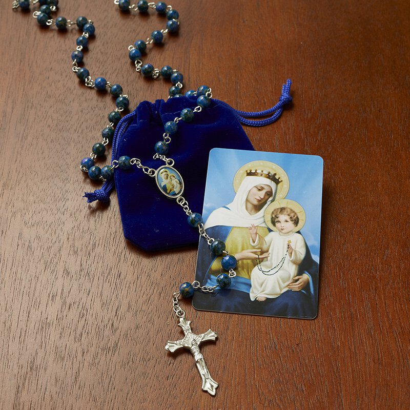Our Lady of the Rosary Rosary with Case