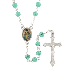 Our Lady of Guadalupe Rosary with Velvet Case