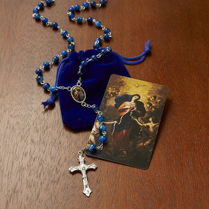 Mary, Untier of Knots Rosary with Case