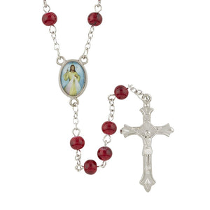 Divine Mercy Rosary with Case