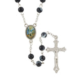 St. Michael Rosary with Velvet Case (FREE SHIPPING)