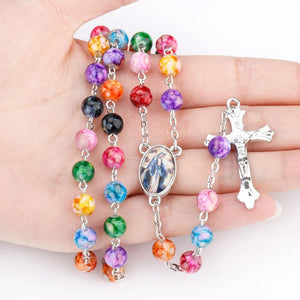 FREE Miraculous Medal Colorful Rosary