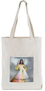 Divine Mercy Tote Bag with Pocket