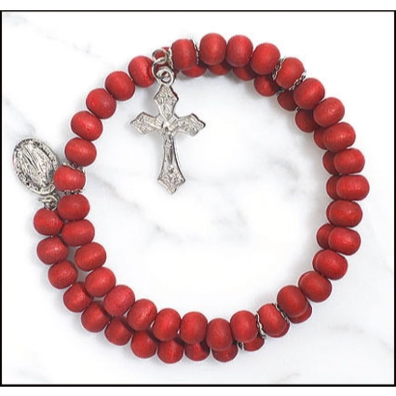 FREE Rose Scented Wrap Style Rosary Bracelet