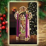 "13.5"" Nativity Cross Advent Wreath"