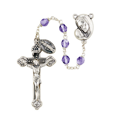 Mother's Embrace Rosary - Amethyst