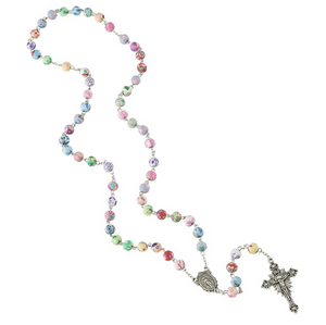 Colorful Flower Bead Rosary (50% OFF)