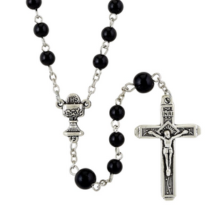 Black First Communion Rosary