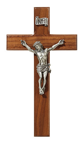 "8"" Walnut Crucifix"