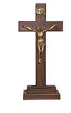 "13"" Walnut Standing Crucifix"