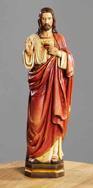 "12"" Sacred Heart Statue"