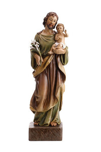 "24"" St. Joseph and Child Statue"