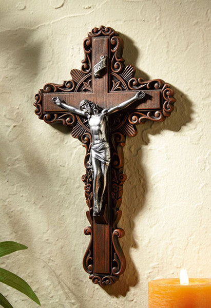 "10"" Calvary Pastoral Crucifix (FREE SHIPPING )"