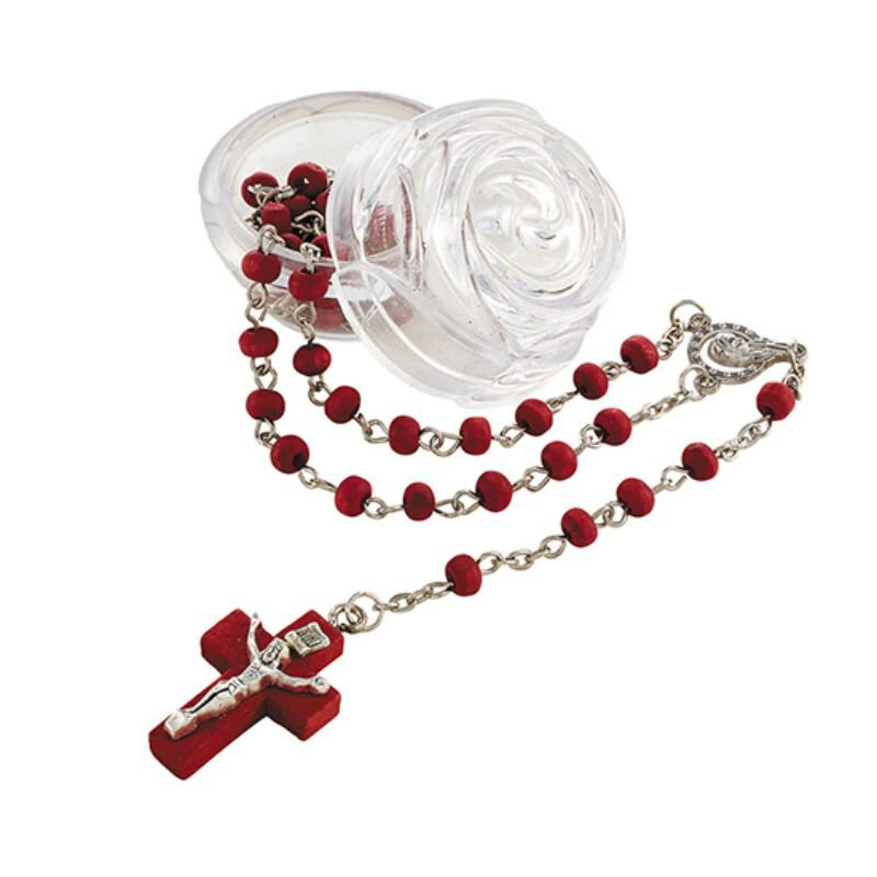 Rose Scented Rosary with Two-Piece Rosebud Case