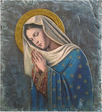 "Madonna of the Rosary 10"" Tile Plaque"