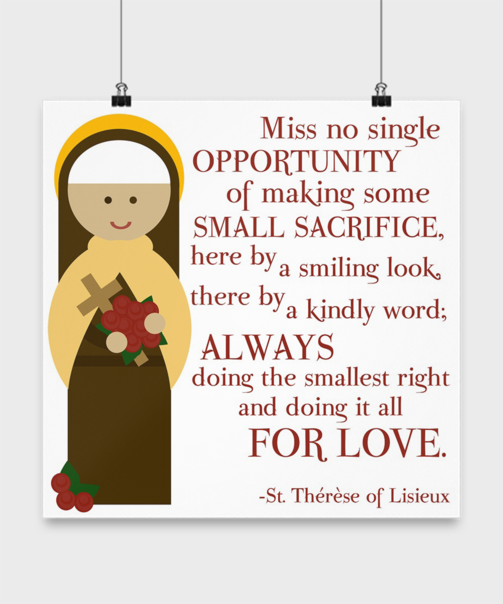 St Therese Quote Poster