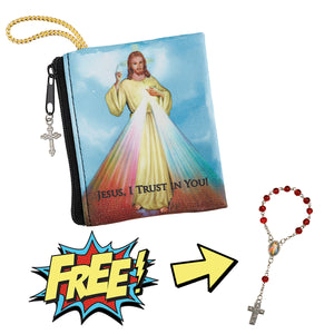 Zipper Rosary Case w/ FREE One Decade Rosary