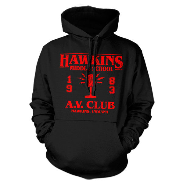 Hawkins Middle School A.V. Club Hoodie - FiveFingerTees