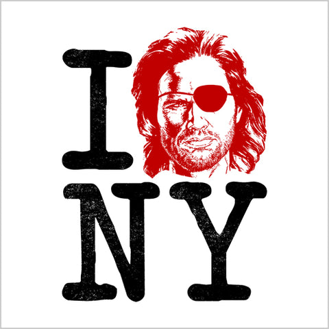 I Heart New York Snake Plissken T-Shirt - FiveFingerTees