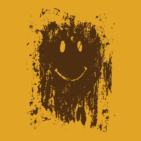 Mud Splatter Smiley Face T-Shirt - FiveFingerTees