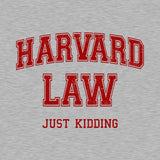 Harvard Law (Just Kidding) Hoodie - FiveFingerTees
