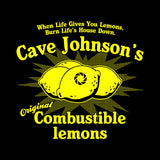 Cave Johnson's Combustible Lemons T-Shirt - FiveFingerTees