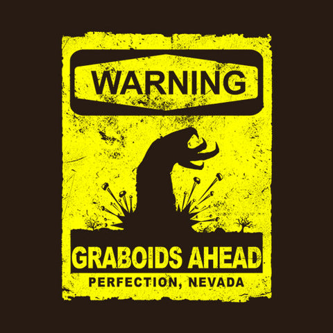 Warning: Graboids Ahead T-Shirt - FiveFingerTees