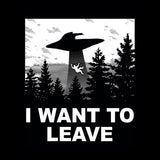 I Want To Leave T-Shirt - FiveFingerTees