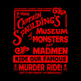 Captain Spaulding's Museum Of Monsters And Madmen T-Shirt - FiveFingerTees