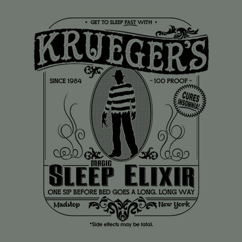Krueger's Magic Sleep Elixir T-Shirt - FiveFingerTees