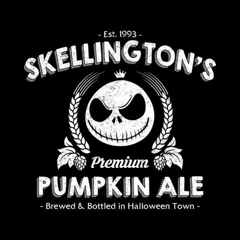 Skellington's Pumpkin Ale T-Shirt - FiveFingerTees