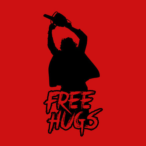 Leatherface Free Hugs T-Shirt - FiveFingerTees