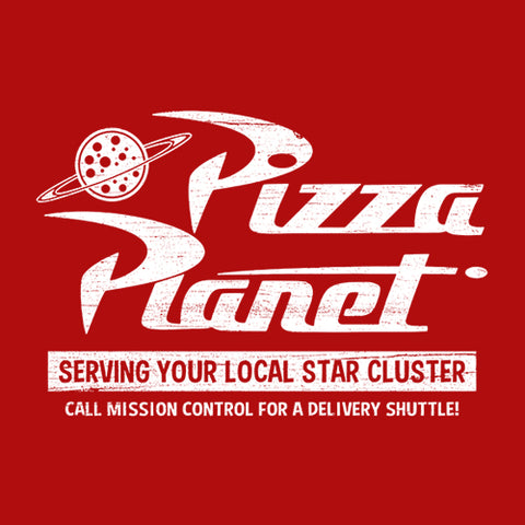 Pizza Planet T-Shirt - FiveFingerTees