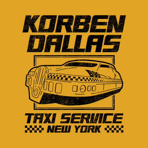 Korben Dallas Taxi Service T-Shirt - FiveFingerTees