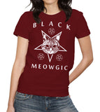 Black Meowgic T-Shirt - FiveFingerTees