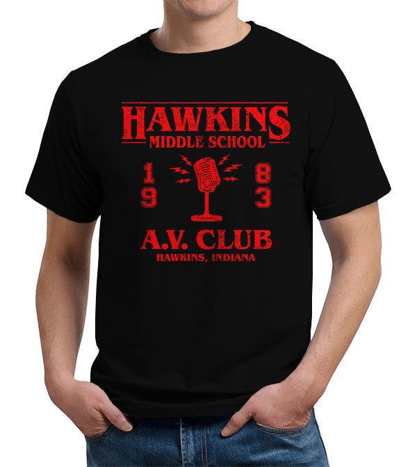 Hawkins Middle School A.V. Club T-Shirt - FiveFingerTees