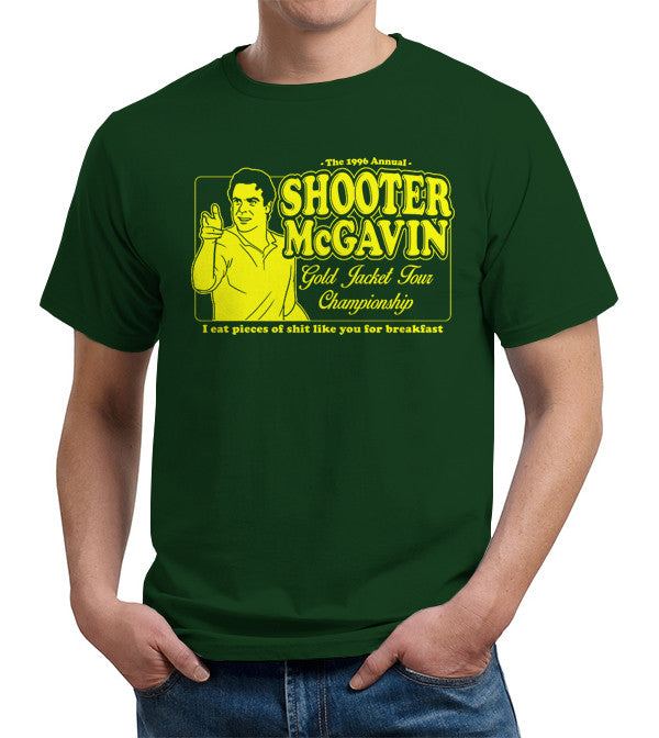 Shooter McGavin Gold Jacket Tour Championship T-Shirt - FiveFingerTees