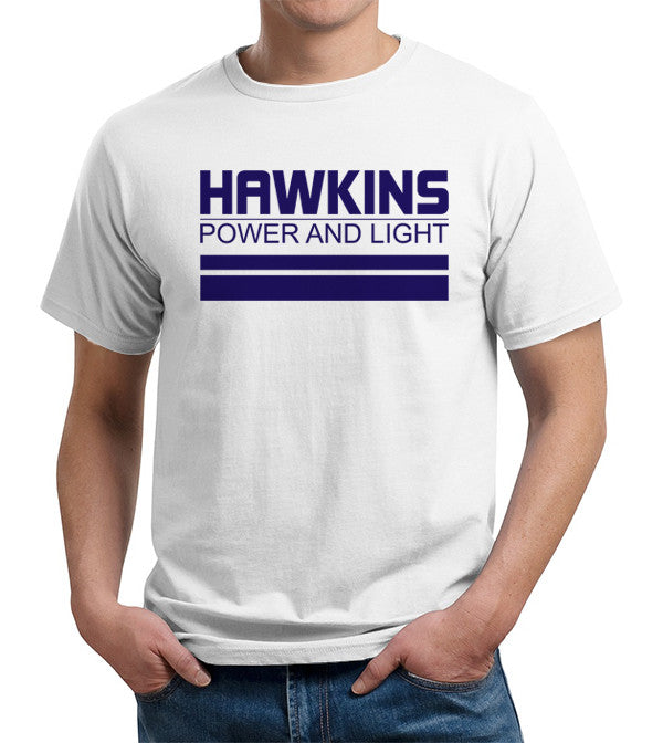Hawkins Power And Light T-Shirt - FiveFingerTees