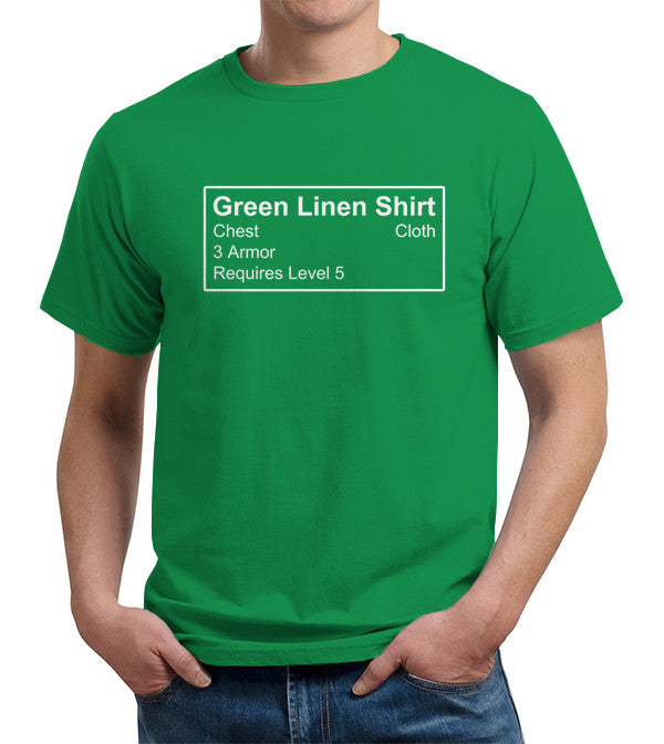 Green Linen Shirt T-Shirt - FiveFingerTees