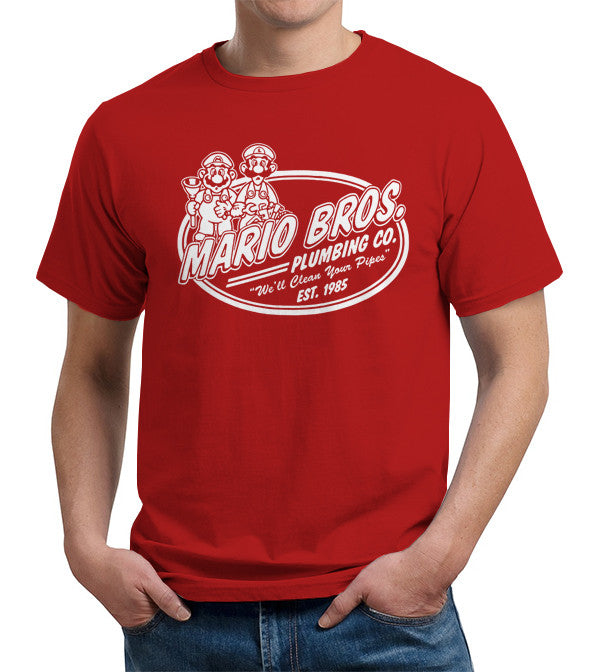 Mario Brothers Plumbing Co. T-Shirt - FiveFingerTees