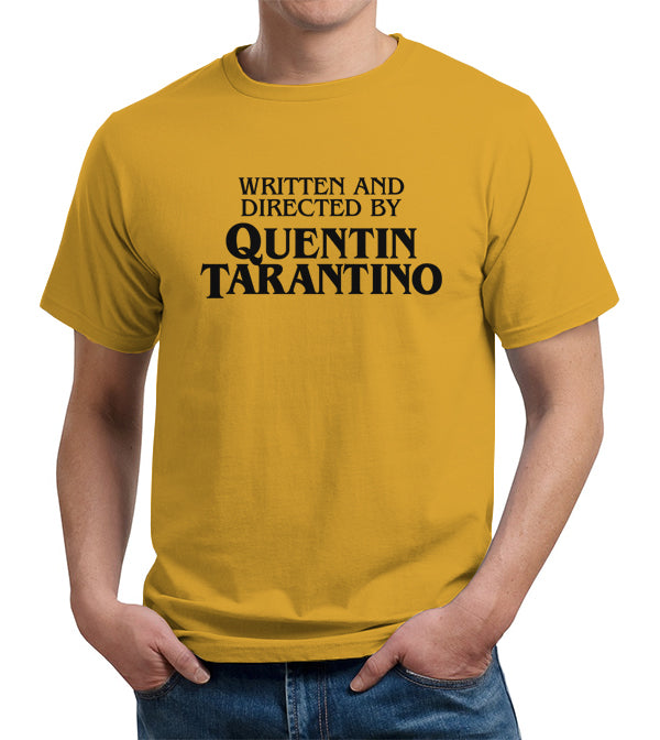 87660813a Written And Directed By Quentin Tarantino T-Shirt - FiveFingerTees