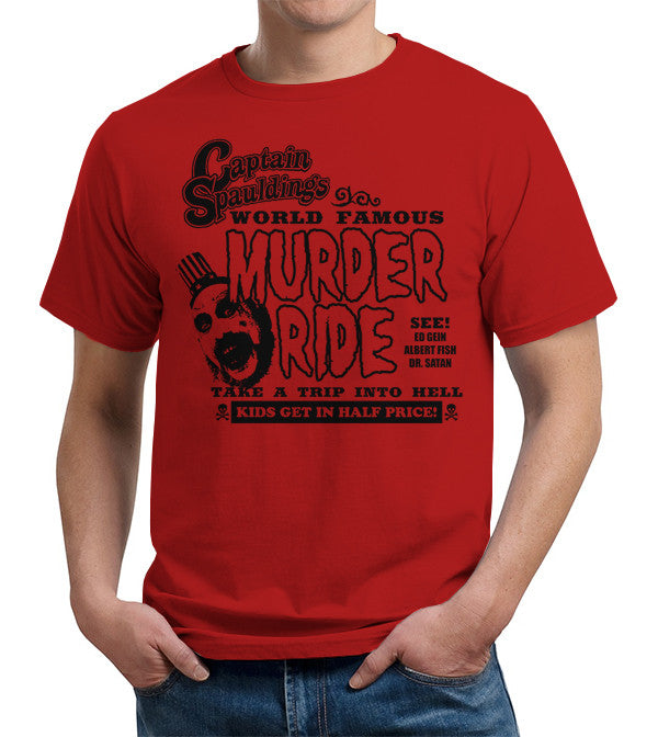 Captain Spauldings Murder Ride T-Shirt - FiveFingerTees