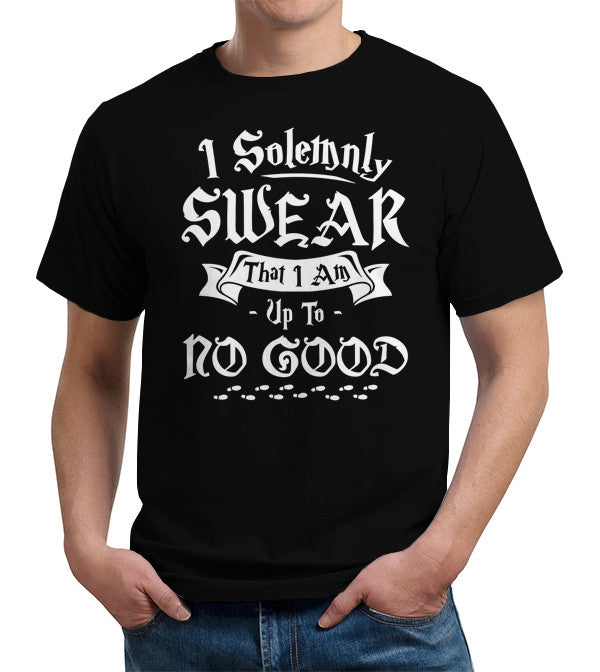 I Solemnly Swear That I Am Up To No Good T-Shirt - FiveFingerTees
