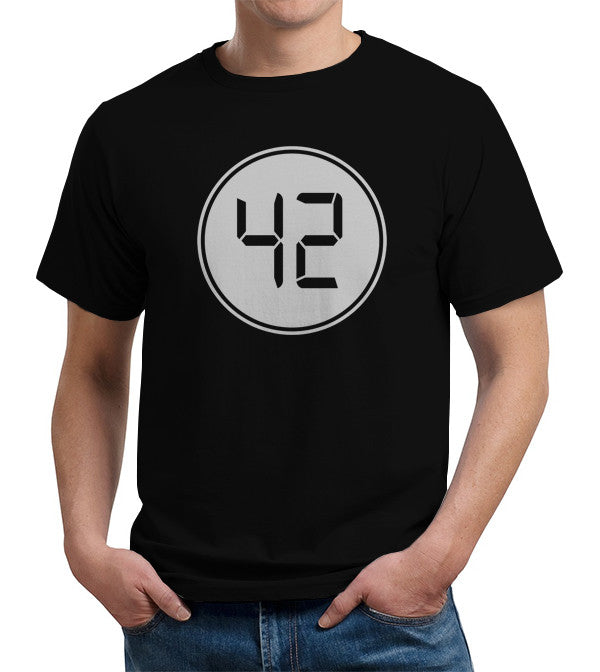 42: The Meaning Of Life, The Universe, And Everything T-Shirt - FiveFingerTees